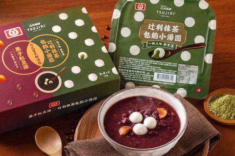 紅色的小湯圓和綠紅色的包裝