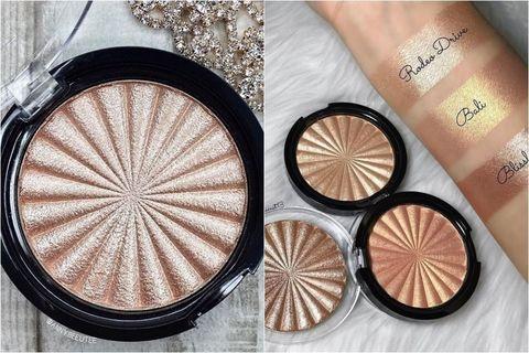 Skin, Product, Eye, Eye shadow, Cosmetics, Material property, Powder, Beige, Metal, Face powder,