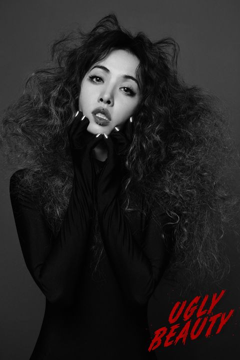 Hair, Face, Black, Lip, Photograph, Beauty, Photo shoot, Black-and-white, Model, Head,
