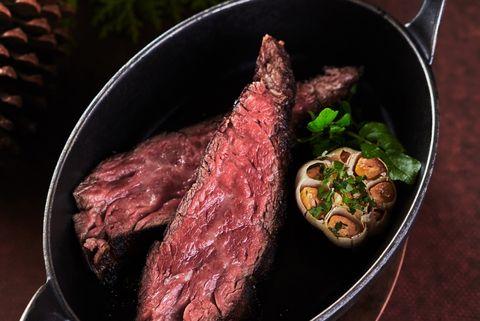 Dish, Cuisine, Flat iron steak, Food, Rinderbraten, Venison, Beef tenderloin, Ingredient, Steak, Sirloin steak,