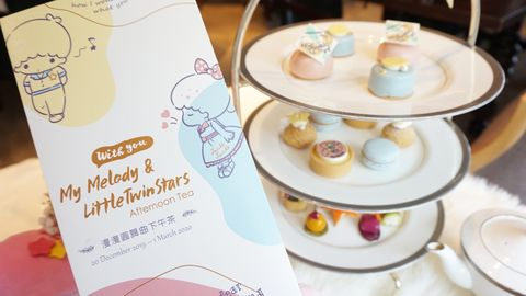 三麗鷗人氣角色美樂蒂、雙子星變成甜點了!文華東方首次聯名「三麗鷗」推出可愛度爆表下午茶