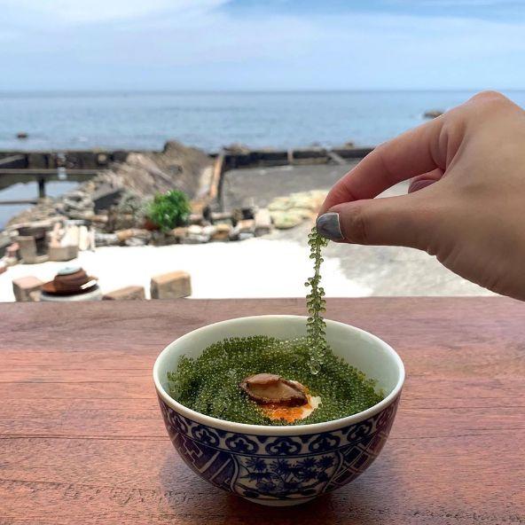 新北貢寮「92k周末食堂」打造台北小沖繩!戶外座位坐擁無敵海景、現撈九孔鮑+海膽超新鮮