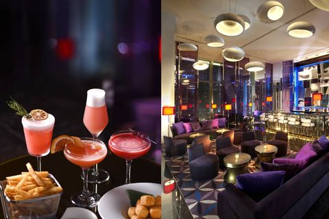 Bar, Drink, Brunch, Alcoholic beverage, Cocktail, Interior design, Distilled beverage, Restaurant, Barware, Club,