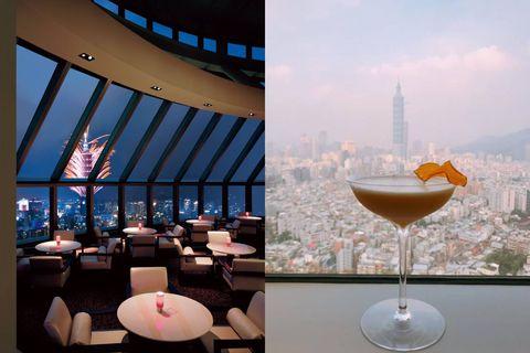 Drink, Restaurant, Wine glass, Glass, Table, Stemware, Cocktail, Champagne stemware, Ceiling, Building,