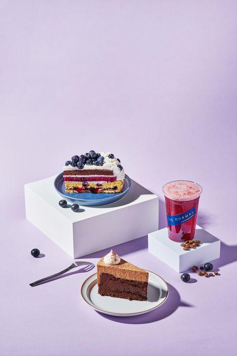 藍莓咖啡特調+藍莓巧克力乳酪塔的完美下午茶組合!the normal x sweet tooth聯名新品甜點太療癒