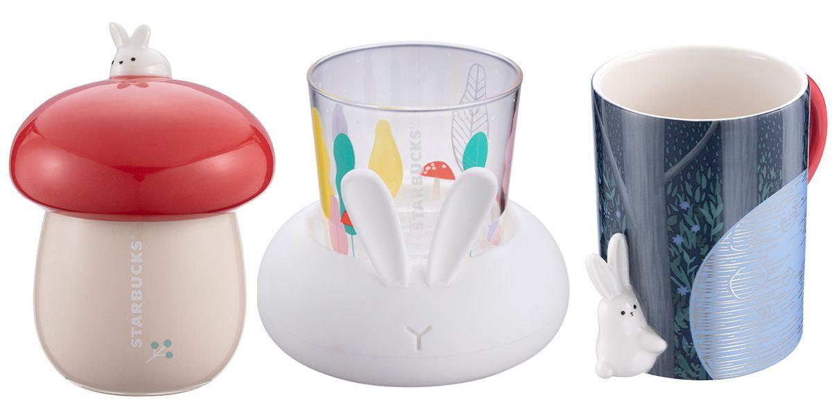 星巴克推出中秋節限定 玉兔杯 玉兔夜光玻璃杯 玉兔造型馬克杯必須收藏