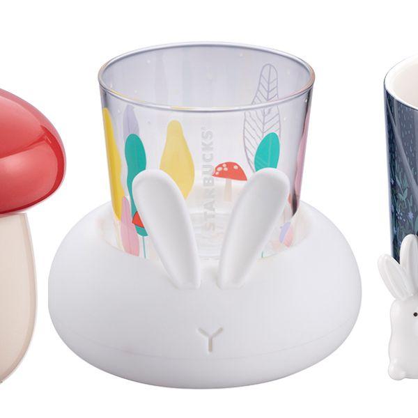 星巴克推出中秋節限定「玉兔杯」!玉兔夜光玻璃杯、玉兔造型馬克杯必須收藏