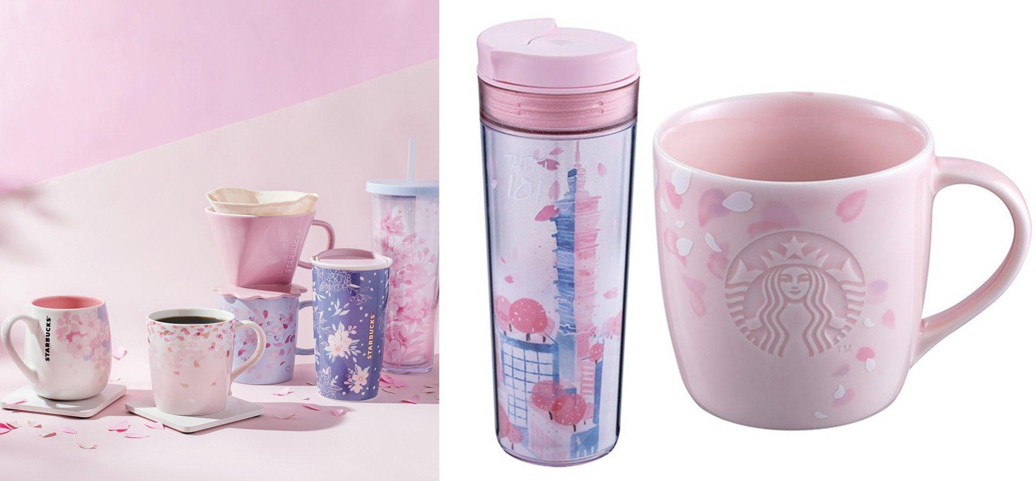 星巴克 春日限定櫻花杯 台北限定發售 櫻花包裝草莓布丁 咖啡新品上市搶先看