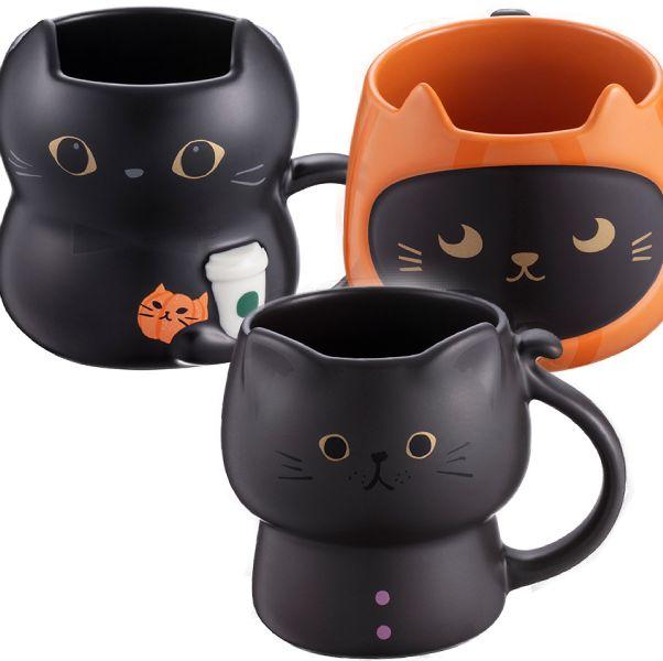 星巴克推出 萬聖節黑貓系列 黑貓馬克杯 黑肉球冷水杯等20樣商品 上市日期貓奴們請筆記