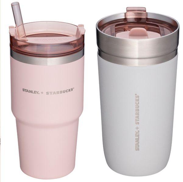 星巴克x stanley夢幻「清水灰+煙粉紅」系列新品來了!打造滿足少女心不鏽鋼杯、餐食罐等夢幻逸品