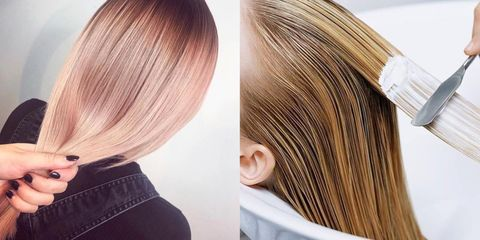 Hair, Hairstyle, Hair coloring, Blond, Brown hair, Brown, Long hair, Layered hair, Beauty, Chin,