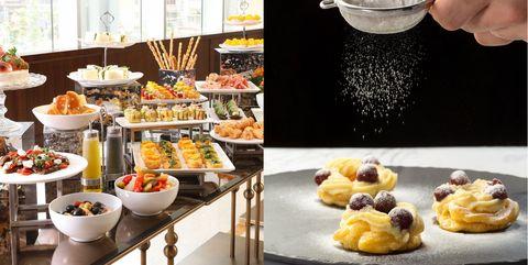Food, Dish, Cuisine, Brunch, Ingredient, Profiterole, Dessert, Finger food, Meal, Pâtisserie,