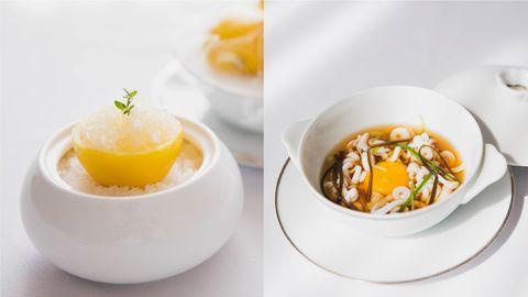 Food, Dish, Cuisine, Ingredient, Soup, Egg yolk, Produce, Recipe, Brunch, Breakfast,