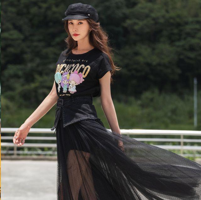 林志玲身穿rockcoco 設計公益潮t 形象照