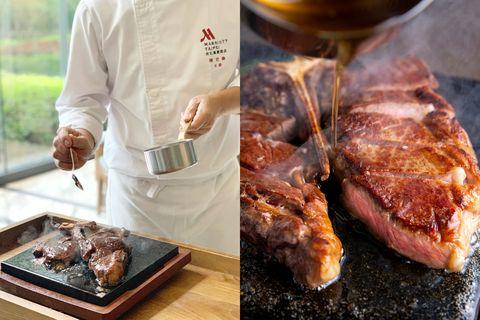 淋上滾燙熱牛油的「爆米花牛排」滿溢奶油堅果香!台北萬豪酒店引進美國慕瑞玫爾爆米花牛排