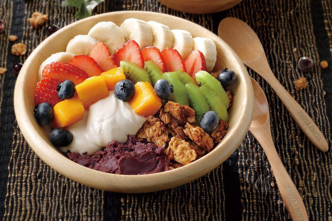 日本,巴西莓,FRUTA FRUTA Açaí Cafe,微風南山,莓果泥,可麗餅,粉紅,冰淇淋,甜點,素食