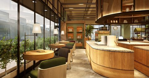 Interior design, Building, Property, Room, Architecture, Furniture, Table, Wood, Restaurant, Ceiling,