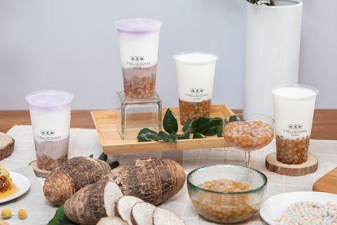 珍煮丹信義市府概念店開幕,「十份芋芋鮮奶」、「覓蜜芋圓鮮奶」新口味手搖飲品。