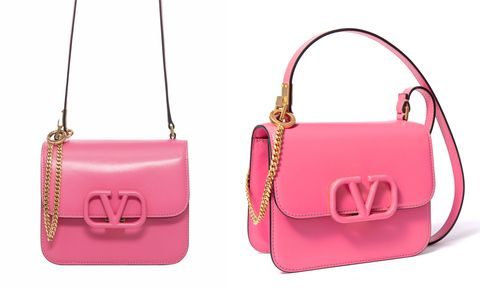 Jessica 同款 Valentino Garavani VSLING 粉紅色包包