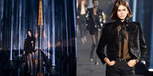 【巴黎時裝週】跟張鈞甯一起在巴黎鐵塔下看 Saint Laurent 燈光秀!穿西裝的女人最性感