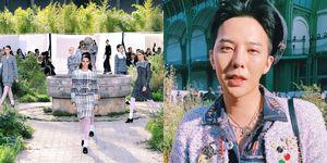 G-Dragon 權志龍時髦現身香奈兒大秀帥翻!巴黎看秀隔空用英文和台灣VIP 粉絲喊話 影片畫面太可愛