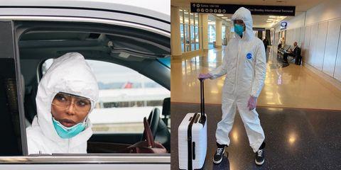 搭飛機防疫措施要注意!空中飛人超模娜歐蜜坎貝兒旅行必做的「消毒步驟」 被讚:最佳示範