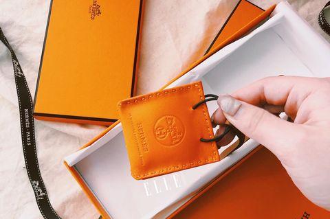 愛馬仕Hermès 小橘吊飾 Orange 系列 Milo 小羔羊皮皮包掛飾