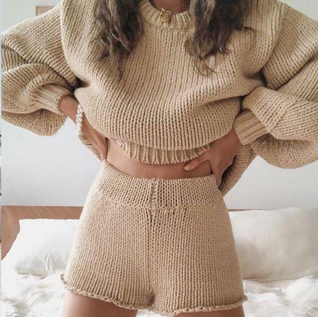 宅在家不出門 好看居家服哪裡買? IG 正瘋「成套針織穿搭」輕鬆穿出慵懶高質感