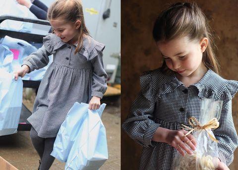 英國皇室夏綠蒂公主5歲生日穿上黑白格紋洋裝