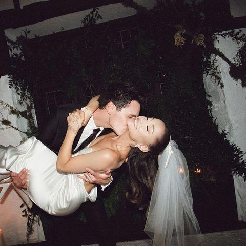 亞莉安娜ariana grande 結婚穿vera wang 婚紗造型