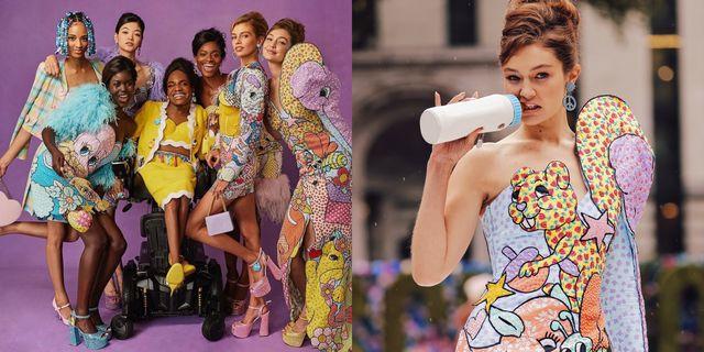 【紐約時裝週】moschino 讓gigi hadid 拿奶瓶走秀!跨性別名模坐輪椅登伸展台超感動