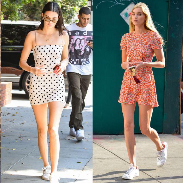 【穿搭筆記】夏天就要穿「短洋裝+小白鞋」!女生必學讓視覺效果更減齡的球鞋穿搭