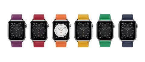 apple watch合作hermès推出彩色 swift 錶帶系列