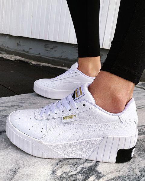 puma cali wedge推出厚底小白鞋