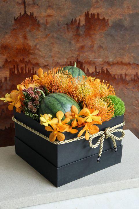 cnflower端午花禮綠夏大黑方西瓜水果禮盒