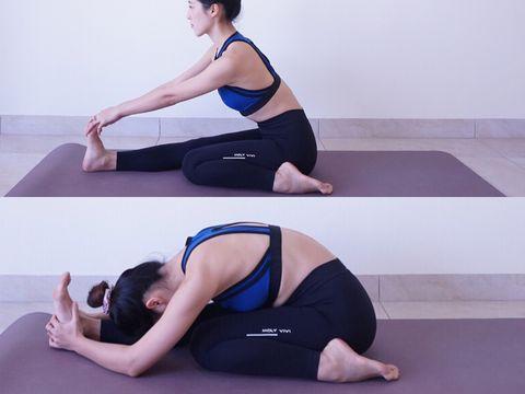 「腿部伸展運動」推薦 半英雄坐立前屈式