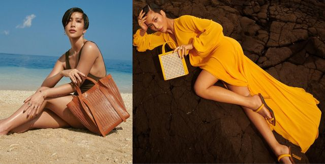 charles  keith x molly chiang莫莉聯名系列以熱帶海濱假期為創作靈感,共有五款鞋子、四款包包以及兩款墨鏡,運用鮮明亮麗的鵝黃色、清新爽朗的草綠色、熱情奔放的暖橘色等色系