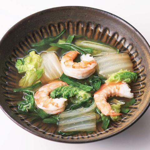 薑味水煮蝦白菜湯