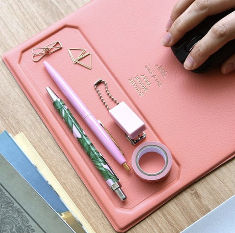 Pink, Wallet, Material property, Fashion accessory, Scissors, Hand, Stationery, Leather, Pencil case, Zipper,