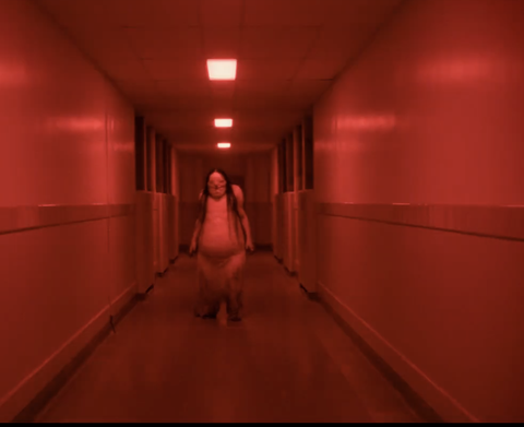 Red, Light, Pink, Room, Photography, Infrastructure, Symmetry, Floor, Flooring, Flesh,