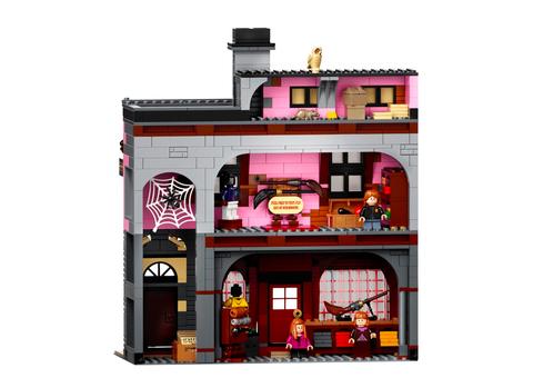 粉色背景灰色外觀的建築