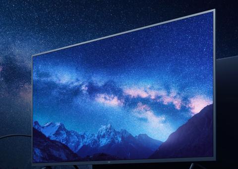 電視中有藍色的星空
