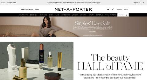 net a porter 雙11時尚購物網站折扣、優惠序號