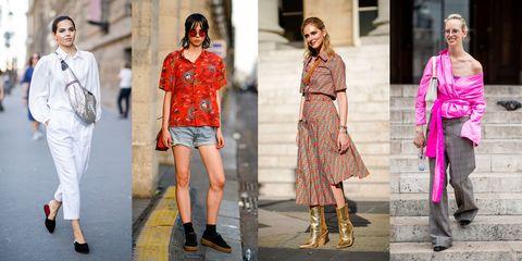 Clothing, Street fashion, Fashion, Red, Pink, Fashion model, Footwear, Dress, Yellow, Orange,