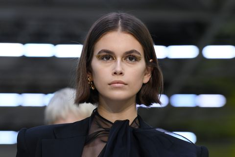 paris, france   september 29 kaia gerber walks the runway during the valentino womenswear springsummer 2020 show as part of paris fashion week on september 29, 2019 in paris, france photo by pascal le segretaingetty images