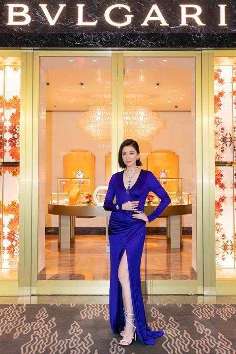賈靜雯出席寶格麗晶華酒店全新概念店開幕