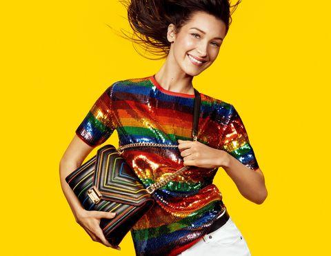 Bella Hadid, MICHAEL Michael Kors, MK, MK彩虹膠囊系列, Michael Kors, 包, 鞋