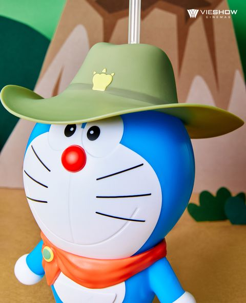 威秀影城推「哆啦a夢50周年電影」限定版造型杯、爆米花桶