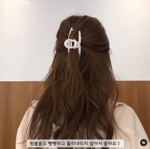 長捲髮編髮造型