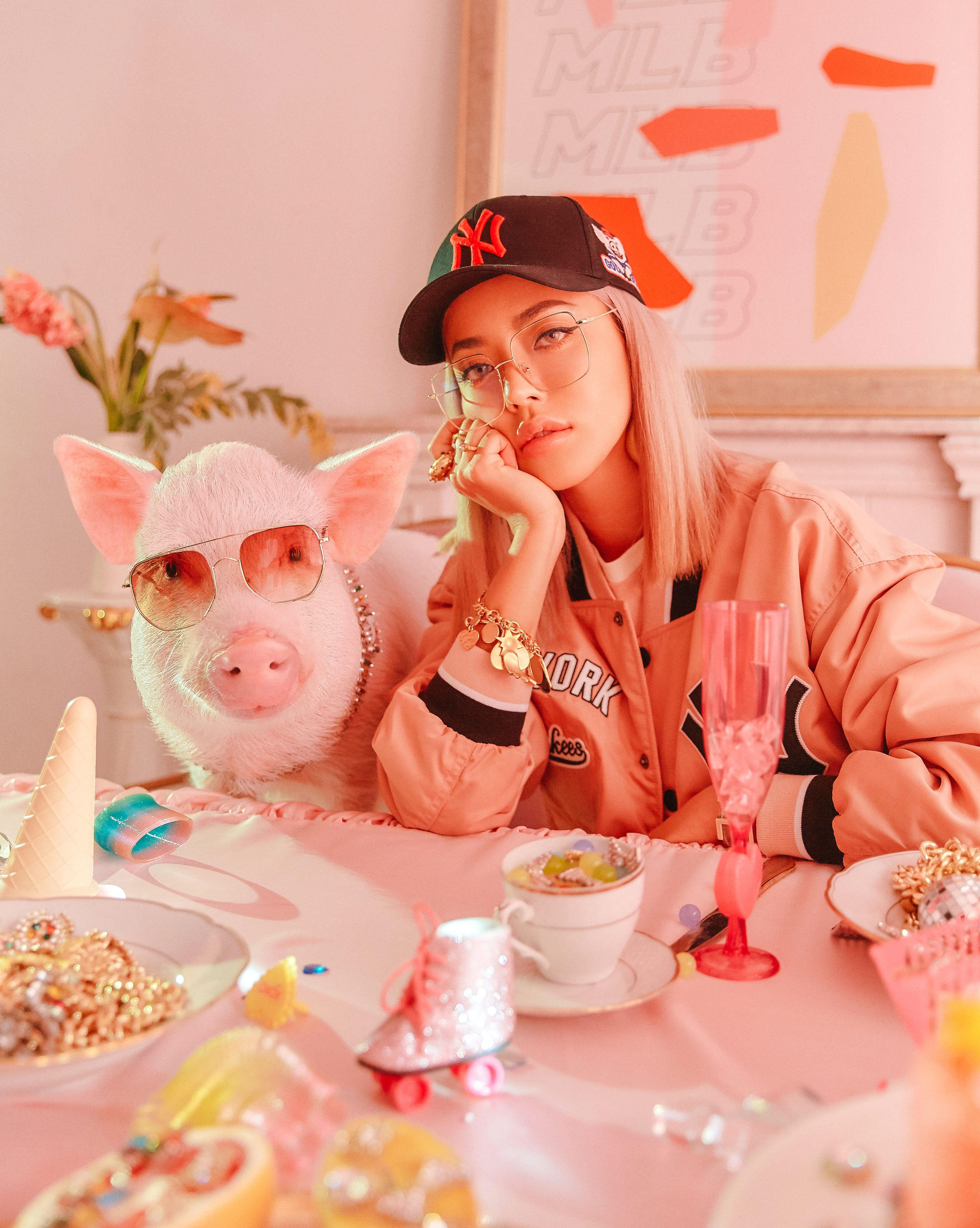 Lucky Pig, MLB, MLB Korea, cap, 潮帽, 衛衣, 豬年時尚單品, 豬年系列, 韓國潮牌